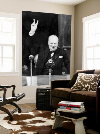 Winston Churchill Nástěnný výjev