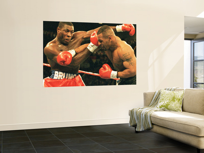 Mike Tyson and Frank Bruno Veggmaleri