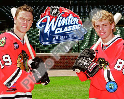 Jonathan Toews & Patrick Kane 2009 NHL Winter Classic Promotion Photo