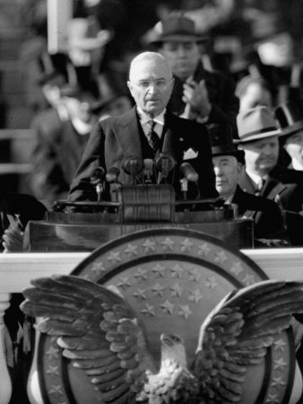 President Harry S. Truman Delivers Inaugural Address from Capitol Portico, January 20, 1949 Photographic Print