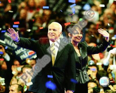 US Sen. John McCain with Republican US vice-presidential nominee Alaska Gov. Sarah Palin Photo