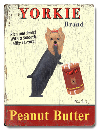Yorkie Peanut Butter Wood Sign