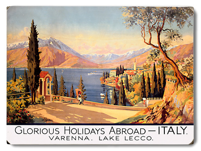 Holidays Abroad - Italy SR, 1928 Wood Sign