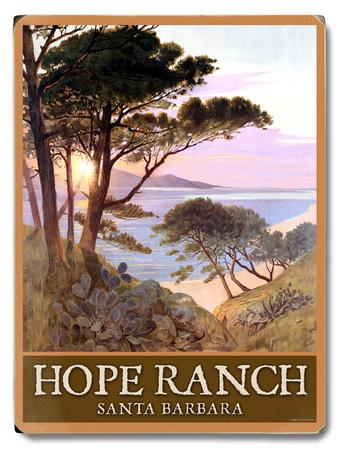 Hope Ranch Beach Santa Barbara Wood Sign