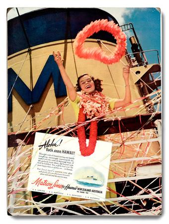 Matson Lines Aloha Wood Sign
