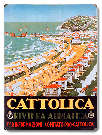 Cattolica Adriatic Riviera Resort Wood Sign