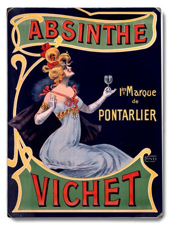 Absinthe Vichet Wine Wood Sign