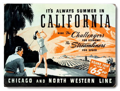 Union Pacific California Summer Wood Sign