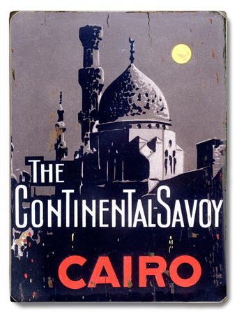 The Continental Savoy Wood Sign