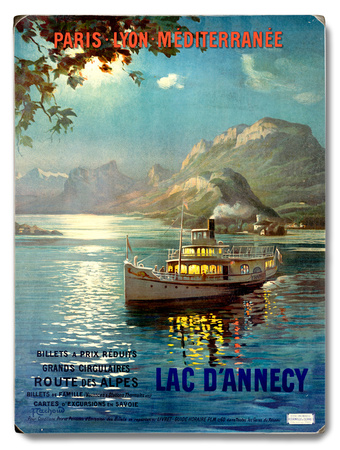PLM Railway Lake D Annecy Wood Sign