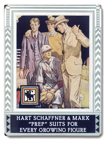 Hart Schaffner and Marx Wood Sign