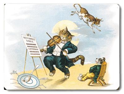 Musical Cat Wood Sign