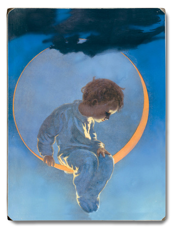 Boy in the Moon Wood Sign