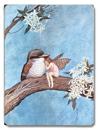 Fairy and Bird Wood Sign