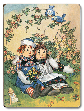 raggedy Ann & Andy Wood Sign