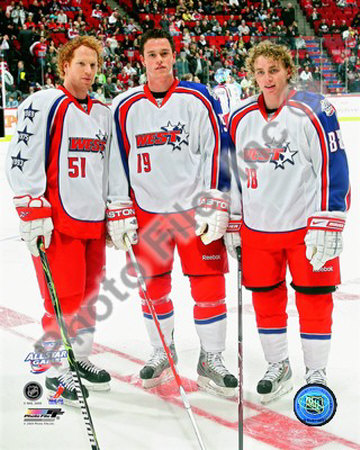 Brian Campbell, Jonathan Toews, Patrick Kane 2008-09 NHL All-Star Game Photo