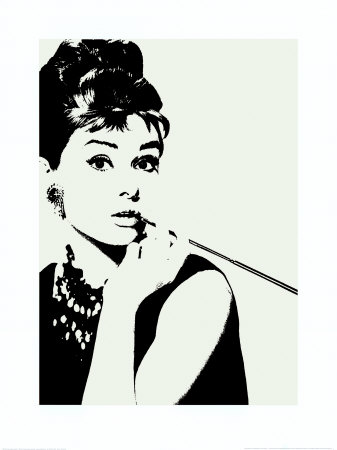 Audrey Hepburn : cigarillo Reproduction d'art