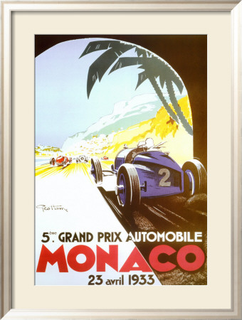 5th Grand Prix Automobile, Monaco, 1933 Framed Art Print