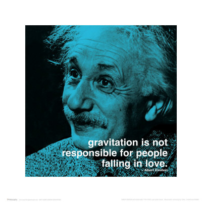 Einstein: Love Art Print