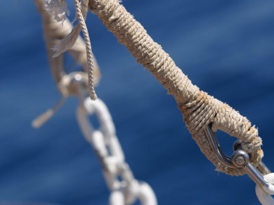 Eye and Anchor Point for Ship Rigging Photographic Print