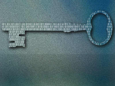 Binary Code on Skeleton Key Photographic Print