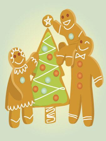 Gingerbread Men Christmas Cookies Photo