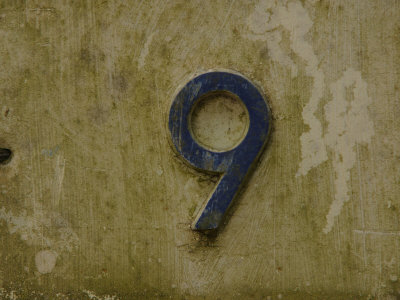 Weathered Number Nine Photographic Print