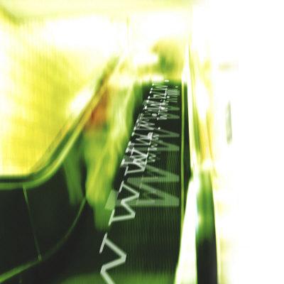 Futuristic Escalator Moving WWW Internet Upwards into Cyberspace Photographic Print