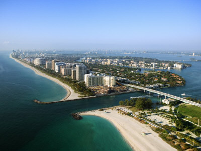 Aerial View over Beautiful Miami Beach, Florida Photographic Print