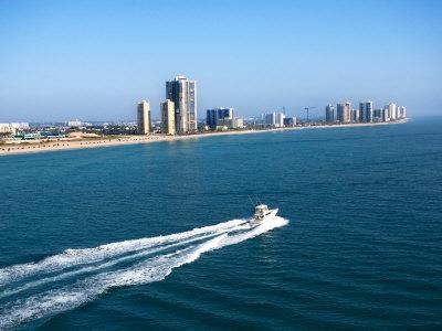 Aerial Along Coast of West Palm Beach, Florida Photographic Print