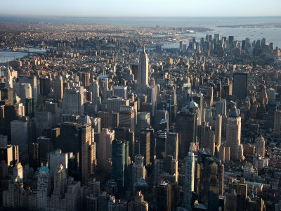 Aerial View of Bustling New York City, New York Photographic Print