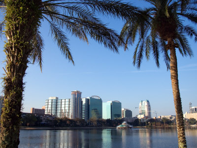 Buildings and High Rises in Skyline of Orlando, Florida Photographic Print