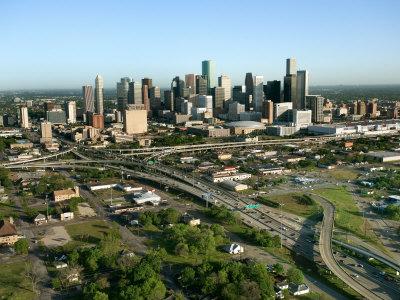 Grandiose Aerial View of Houston, Texas Photographic Print