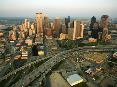 Aerial View of Cityscape in Dallas, Texas Photographic Print