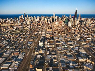 Aerial View of Grandiose City of Chicago, Illinois Photographic Print