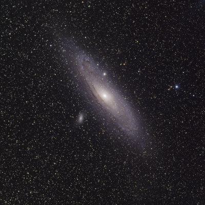 Andromeda Galaxy (M31) with Satellite Galaxies Messier 110 and Messier 32 Photographie
