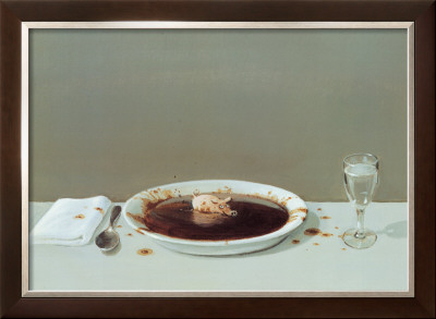 Pig in Soup Print by Michael Sowa