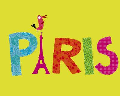 Paris Perroquet Posters by Nathalie Choux