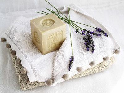 Soap and Lavender Art by Amelie Vuillon