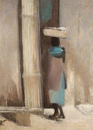 Dans les Rues de Mopti Poster by Dominque Andrier