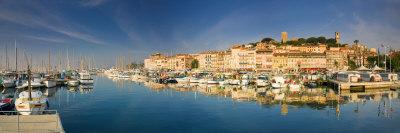 Vieux Port and Old Quarter of Le Suquet, Cannes, Cote D'Azur, France Photographic Print by Michele Falzone