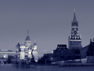 St. Basil's Cathedral and Kremlim, Red Square, Moscow, Russia Photographic Print by Jon Arnold