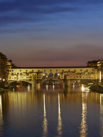 Ponte Vecchio, Arno River, Florence, Italy Photographic Print by Neil Farrin