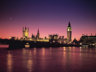 Big Ben and Houses of Parliamant, London, England Photographie