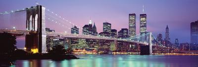 Silueta de Nueva York Póster