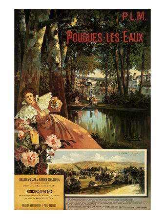 P. L. M. (Pougues-Les-Eaux), c.1898 Giclee Print by Francois Fleming