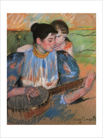 The Banjo Lesson Giclee Print by Mary Cassatt