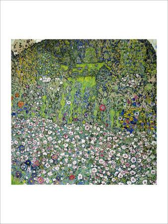 Garden Landscape with Hilltop Giclee Print by Gustav Klimt