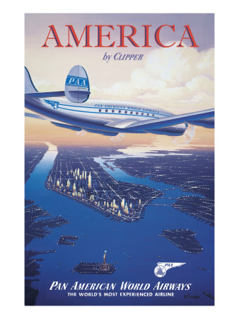 America by Clipper Giclée-Druck