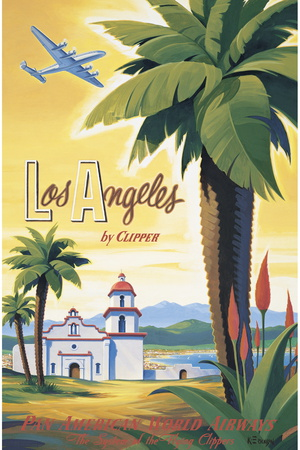 Los Angeles by Clipper Giclee Print by Kerne Erickson